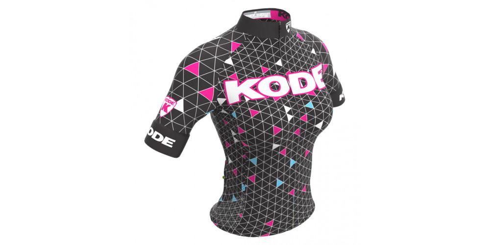 Imagem ilustrativa de Camisa de Ciclismo Feminina Geometric